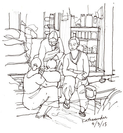 kathmandu three women at shopfront s.jpg